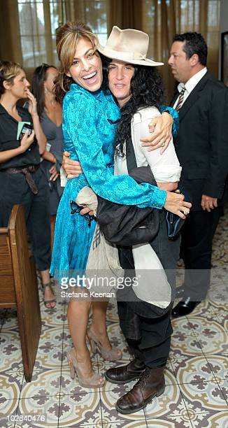 Eva Mendes and Amanda Demme attend an InHouse Screening of 'Network' Hosted By Eva Mendes Presented by St Tropez at Palihouse Holloway on July 12...