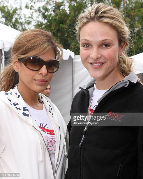 Eva Mendes and Beau Garrett during The Entertainment Industry Foundation's 14th Annual Revlon Run/Walk for Women at Los Angeles Memorial Coliseum at...