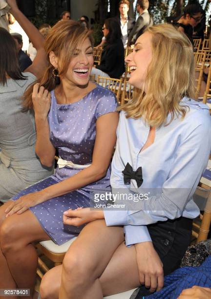 LOS ANGELES CA OCTOBER 30 Eva Mendes and Diane Kruger attend the CFDA/Vogue Fashion Fund Event at Chateau Marmont on October 30 2009 in West...