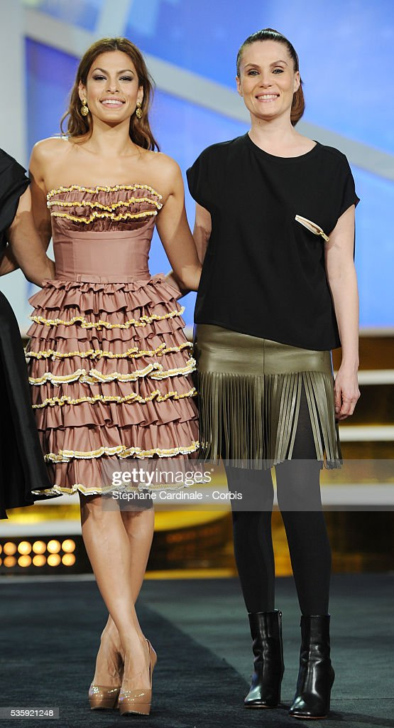 Eva Mendes and Emmanuelle Seigner attend the Short Films Award Ceremony, during the10th Marrakech Film Festival, in Marrakech.