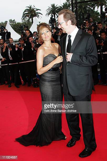 Eva Mendes and James Gray during 2007 Cannes Film Festival We Own The Night Premiere at Palais des Festivals in Cannes France