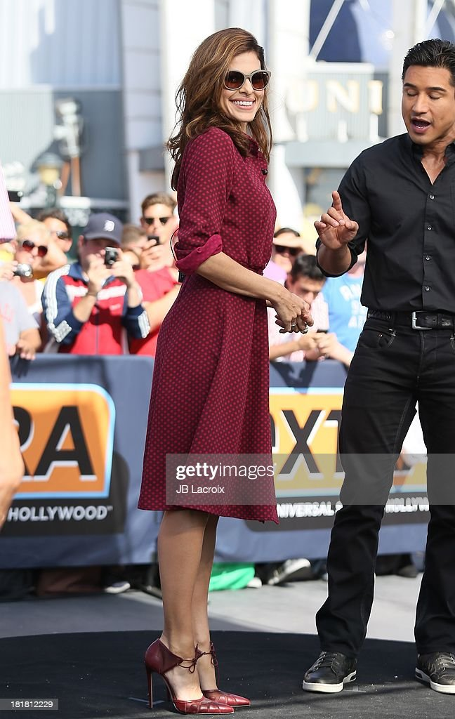 Eva Mendes and Mario Lopez are seen on September 25, 2013 in Los Angeles, California.