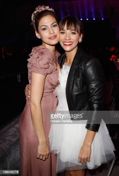 "Eva Mendes and Rashida Jones attend the Art Of Elysium's 4th Annual ""Heaven"" Charity Gala at California Science Center's Wallis Annenberg Building on..."