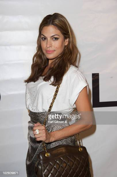 Eva Mendes appears at the Los Angeles Nomadic Division First Annual Benefit at Sunset Tower on July 15 2010 in West Hollywood California