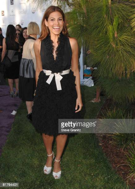 Eva Mendes arrives at 7th Annual Chrysalis Butterfly Ball on May 31 2008 at a Private Residence in Los Angeles California
