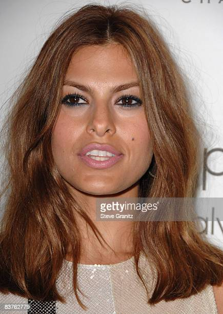 Eva Mendes arrives at ELLE Magazine's 15th Annual Women in Hollywood Event at The Four Seasons Hotel on October 6 2008 in Beverly Hills California