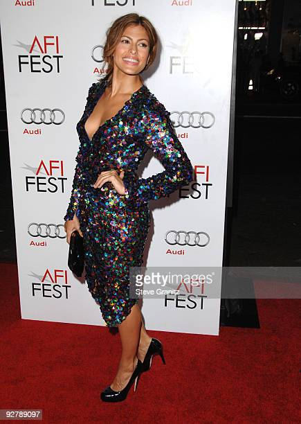 "Eva Mendes arrives at the AFI Fest Screening Of ""Bad Lieutenant: Port Of Call New Orleans"" Grauman's Chinese Theatre on November 4, 2009 in..."