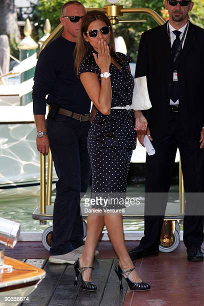 Eva Mendes arrives at the Excelsior Hotel during the 66th Venice International Film Festival on September 4 2009 in Venice Italy
