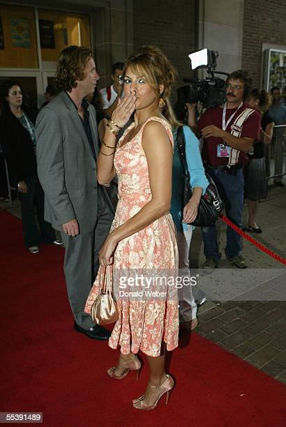 Eva Mendes arrives on the red carpet for the TIFF gala screening of the film 'Trust the Man' on September 12 2005 in Toronto Canada