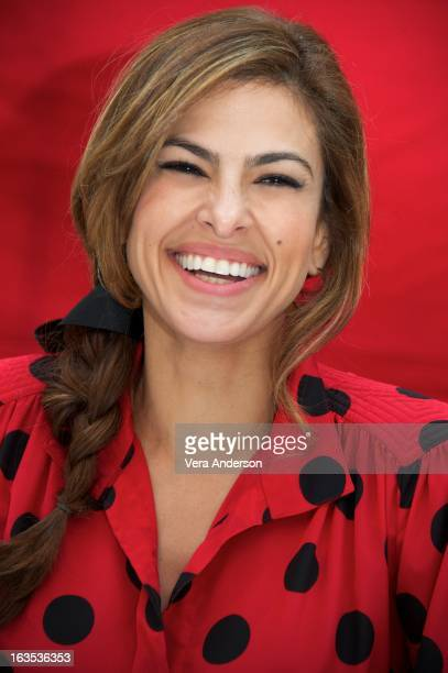 Eva Mendes at The Place Beyond The Pines Press Conference at the Waldorf Astoria Hotel on March 10 2013 in New York City