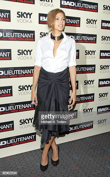 Eva Mendes attends a screening of 'Bad Lieutenant' at the SVA Theater on November 8 2009 in New York City