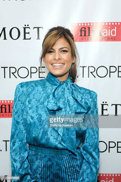 Eva Mendes attends an inhouse screening of 'Network' hosted by Eva Mendes presented by St Tropez at Palihouse Holloway on July 12 2010 in West...