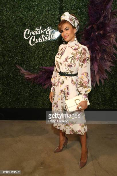 Eva Mendes attends Create Cultivate Los Angeles at Rolling Greens Los Angeles on February 22 2020 in Los Angeles California