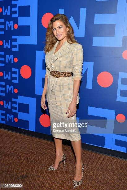 Eva Mendes attends Eva Mendes for New York Company Fall Holiday 2018 Fashion Show at The Palace Theatre on September 13 2018 in Los Angeles California