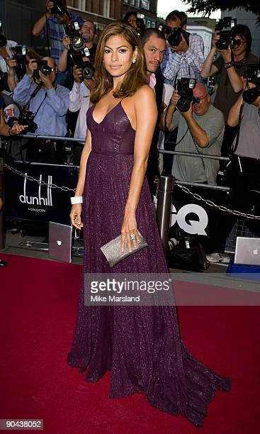 Eva Mendes attends GQ Men Of The Year Awards at the The Royal Opera House on September 8 2009 in London England