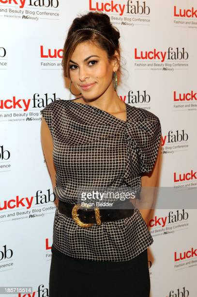 Eva Mendes attends Lucky Magazine's TwoDay East Coast FABB Fashion and Beauty Blog Conference Day 1 on October 25 2013 in New York City