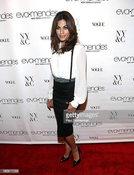 Eva Mendes attends New York Company And Eva Mendes Collection Launch Event at New York Company on September 18 2013 in New York City