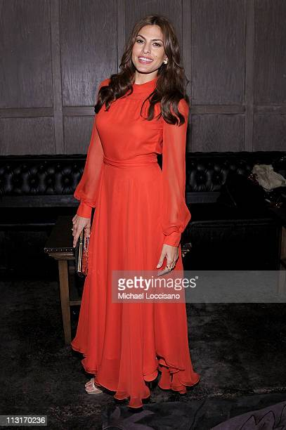 Eva Mendes attends the 2011 Tribeca Film Festival afterparty presented by American Express and The Cinema Society for Last Night at Avenue on April...
