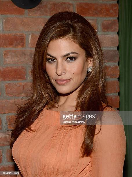 Eva Mendes attends the after party for The Place Beyond The Pines New York Premiere at The Bowery Hotel on March 28 2013 in New York City