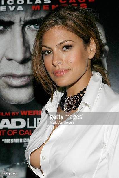 Eva Mendes attends the after party for the premiere of 'Bad Lieutenant' at Avenue Bar and Restaurant on November 8 2009 in New York New York