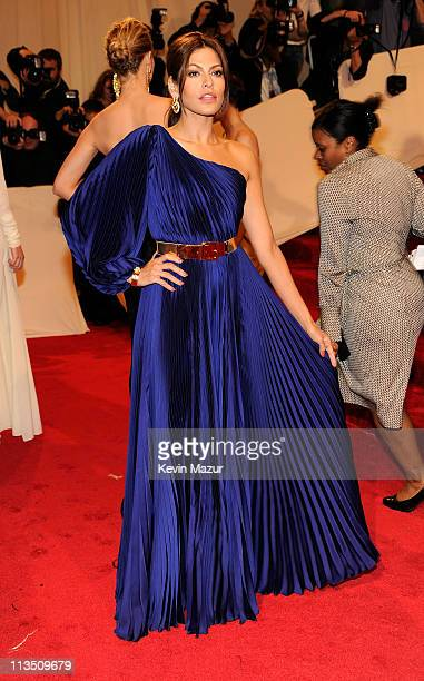 Eva Mendes attends the Alexander McQueen Savage Beauty Costume Institute Gala at The Metropolitan Museum of Art on May 2 2011 in New York City