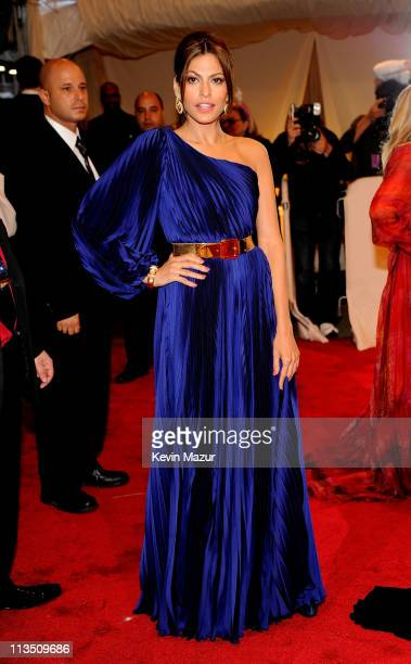 "Eva Mendes attends the ""Alexander McQueen: Savage Beauty"" Costume Institute Gala at The Metropolitan Museum of Art on May 2, 2011 in New York City."