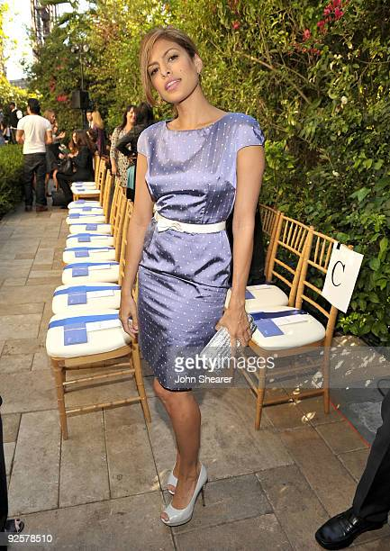 LOS ANGELES CA OCTOBER 30 Eva Mendes attends the CFDA/Vogue Fashion Fund Event at Chateau Marmont on October 30 2009 in West Hollywood California