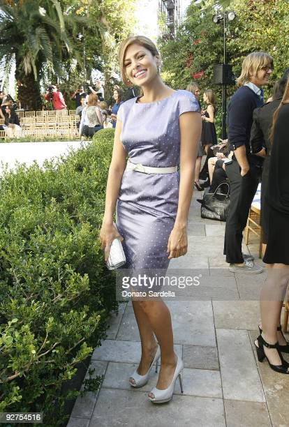 LOS ANGELES CA OCTOBER 30 Eva Mendes attends the CFDA/Vogue Fashion Fund Event at Chateau Marmont on October 30 2009 in Los Angeles California