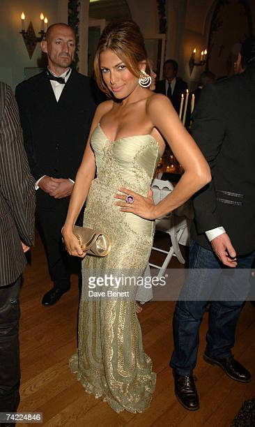 Eva Mendes attends the De Grisogono dinner held during the 60th International Cannes Film Festival at the Hotel du Cap Eden Roc on May 22 2007 in...
