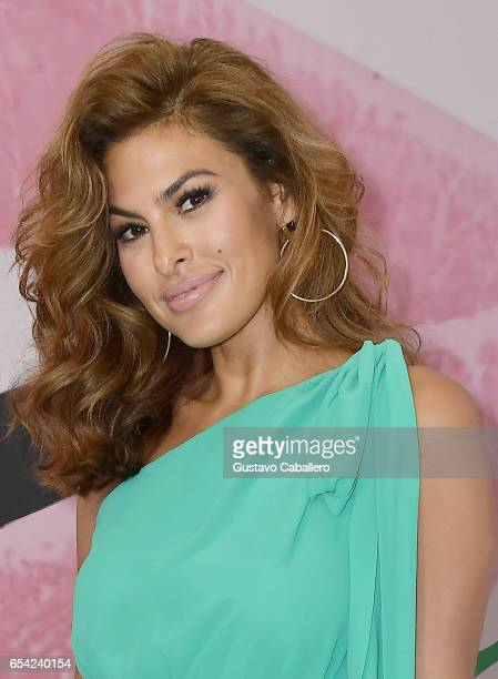 Eva Mendes attends the grand opening of New York Company Miami store and the debut of her new collection on March 16 2017 in Miami Florida