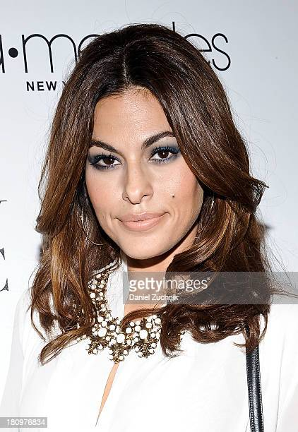 Eva Mendes attends the New York Company and Eva Mendes collection launch event at New York Company on September 18 2013 in New York City