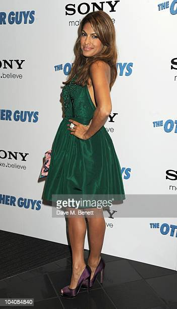 Eva Mendes attends 'The Other Guys' UK film premiere at Vue Leicester Square on September 14 2010 in London England