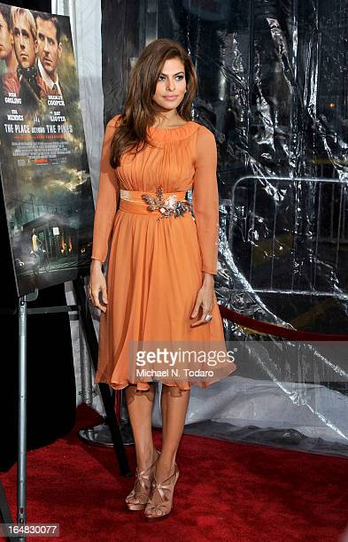 Eva Mendes attends 'The Place Beyond The Pines' New York Premiere at Landmark Sunshine Cinema on March 28 2013 in New York City