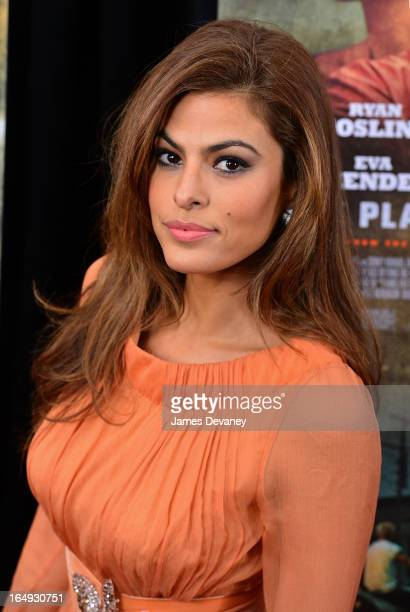 """Eva Mendes attends """"The Place Beyond The Pines"""" New York Premiere at Landmark Sunshine Cinema on March 28, 2013 in New York City."""