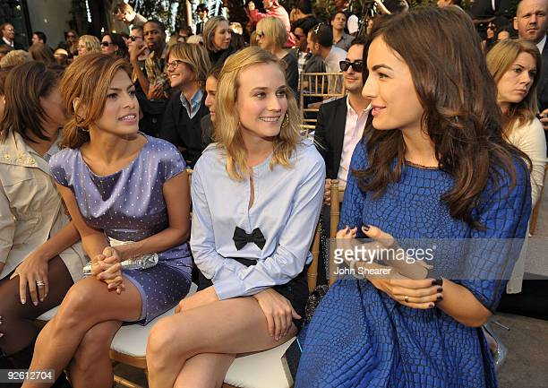 LOS ANGELES CA OCTOBER 30 Eva Mendes Diane Kruger and Camilla Belle attend the CFDA/Vogue Fashion Fund Event at Chateau Marmont on October 30 2009 in...