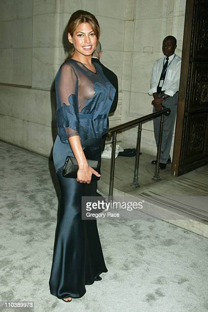 Eva Mendes during 2005 CFDA Fashion Awards Inside at New York Public Library in New York City New York United States
