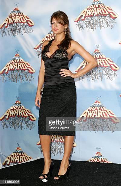 Eva Mendes during 2005 MTV Movie Awards Press Room at Shrine Auditorium in Los Angeles California United States