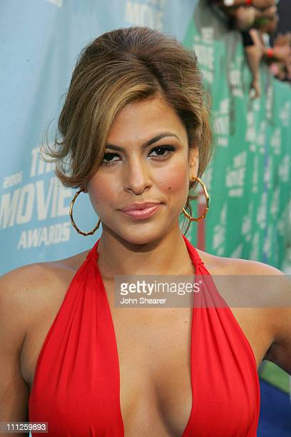 Eva Mendes during 2006 MTV Movie Awards MTVcom Red Carpet at Sony Pictures in Culver City California United States