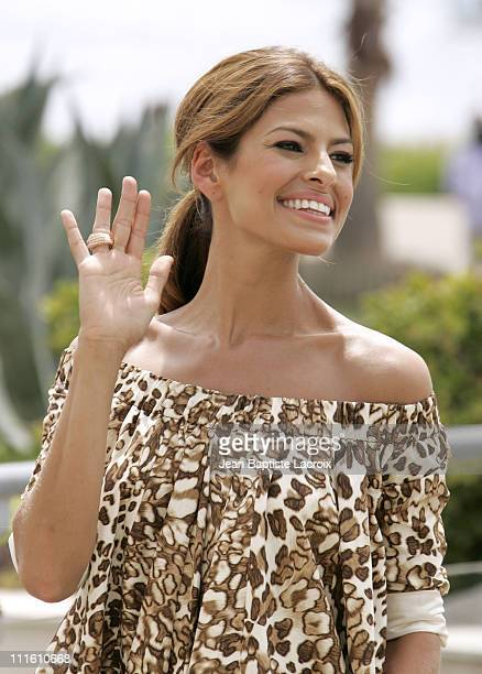 Eva Mendes during 2007 Cannes Film Festival 'We Own The Night' Departures at Palais des Festivals in Cannes France
