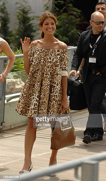 """Eva Mendes during 2007 Cannes Film Festival - """"We Own The Night"""" - Departures at Palais des Festivals in Cannes, France."""