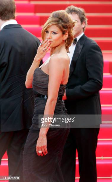 Eva Mendes during 2007 Cannes Film Festival We Own The Night Premiere at Palais des Festivals in Cannes France