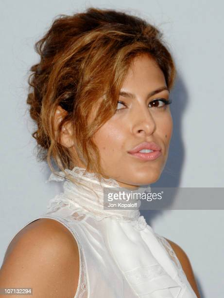 Eva Mendes during 2007/2008 Chanel Cruise Show Presented by Karl Lagerfeld at Hangar 8 in Santa Monica California United States