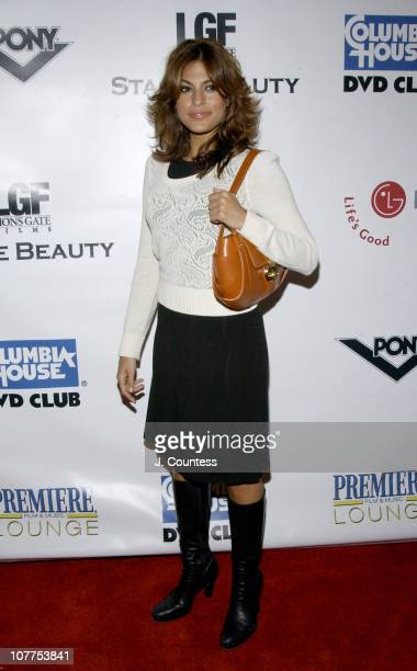 Eva Mendes during 3rd Annual Tribeca Film Festval Premiere Lounge Stage Beauty Premiere After Party at 323 Lounge in New York City New York United...