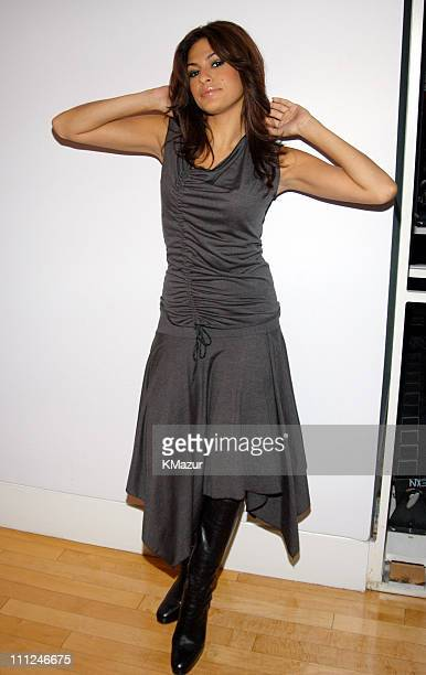 Eva Mendes during Eva Mendes Stops by MTV's Direct Effect on September 9 2003 at MTV Studios Times Square in New York City New York United States