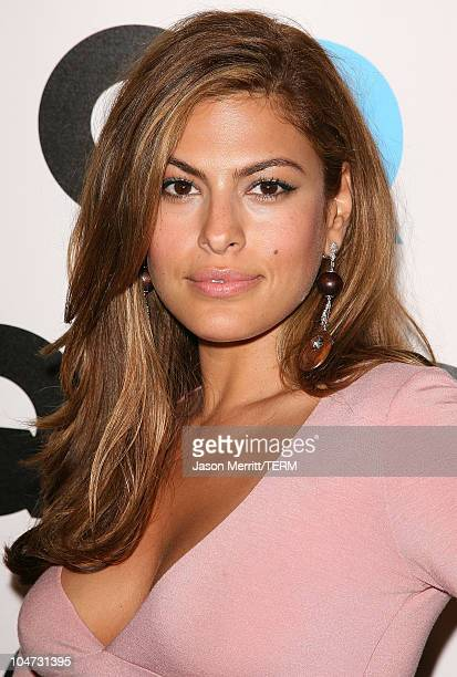 Eva Mendes during GQ Celebrates 2005 Men of the Year Arrivals at Mr Chow in Beverly Hills California United States