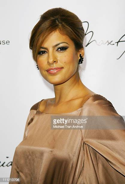 Eva Mendes during Max Lubov Azria Eva Mendes and W Host Unveiling of Artist Patrick Dougherty's First Major Outdoor Art Installation in Los Angeles...