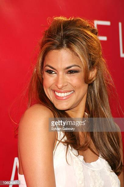 Eva Mendes during Revlon launched Flair fragrance at the new Mr Chow Tribeca arrivals at Mr Chow Tribeca at 121 Hudson Street in New York New York...