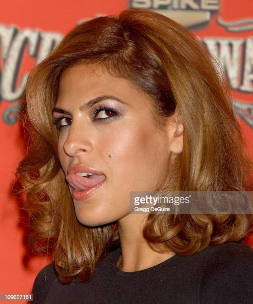 Eva Mendes during Spike TV's 'Scream Awards 2006' Arrivals at Pantages Theatre in Hollywood California United States