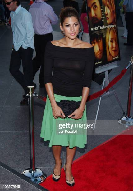 Eva Mendes during 'We Don't Live Here Anymore' Los Angeles Premiere Arrivals at The Director's Guild of America in Los Angeles California United...