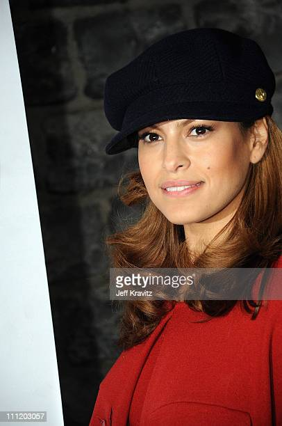 Eva Mendes greets holiday shoppers with Cheeky new PETA AD 'FUR I'D RATHER GO NAKED' on December 202007 in Los Angeles California